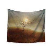 "Viviana Gonzalez ""Lone Tree Love I"" Orange Yellow Wall Tapestry"