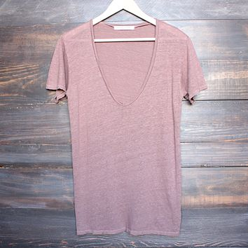 Project Social T - Grace Linen V-Neck Tee