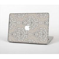 The Seamless Tan Floral Pattern Skin Set for the Apple MacBook Air 11""