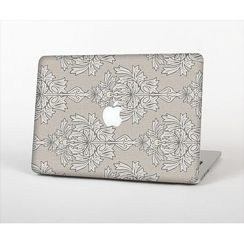 """The Seamless Tan Floral Pattern Skin Set for the Apple MacBook Air 11"""""""