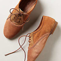 Anthropologie - Lacy Colorblock Oxfords