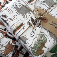 Eco friendly Wrapping Paper, Set of 3