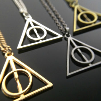 Deathly Hallows Necklace Harry Potter Necklace Always Necklace Fandom Jewelry Fangirl Gift Geeky Charm Unisex