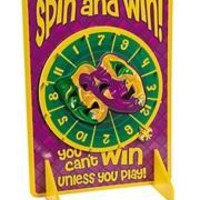 14 3/4in Wide x 20 1/4in Long Mardi Gras Spinner Game