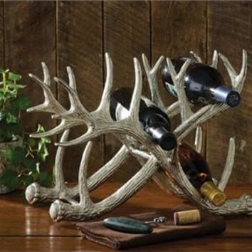 Silver Antler Bottle Rack