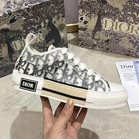 Dior CD net yarn letters low-top shoes, breathable thick-soled versatile men and women couple shoes