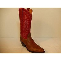 Star Boots Classic Red Leather Cowboy Boots