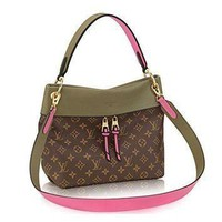 Tagre™ LV Women Shopping Leather Tote Handbag Shoulder Bag Louis Vuitton Monogram Canvas Tuil