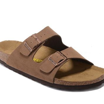 Men's and Women's BIRKENSTOCK sandals Arizona Soft Footbed Suede Leather 632632288-022