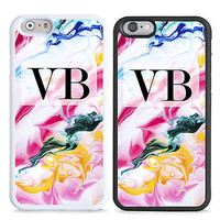 PERSONALISED MONOGRAM ROCK MARBLE INITIALS HARD CASE COVER FOR MOBILE PHONES