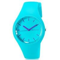 SANDA P131G Stylish Women's Analog Sports Watch with Plastic Strap (Blue)