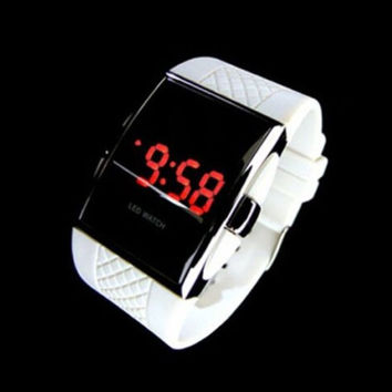 Stylish Korean Unisex Electronic Silicone Fashion Strong Character Watch = 5861545473