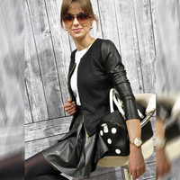 MJ 2016 Spring Autumn Women Thin Jacket Tops Celeb Bomber Long Sleeve Coat Casual Stand Collar Slim Fit Outerwear Plus Size