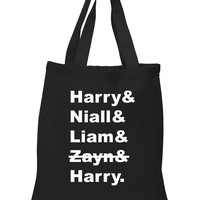 One Direction Members / Zayn Crossed Out 100% Cotton Tote Bag