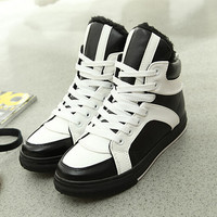 womens winter sports leather shoes