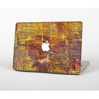 """The Bright Orange Torn Posters Skin Set for the Apple MacBook Pro 15"""""""