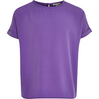 River Island Girls purple oversized top