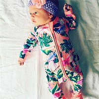 Autumn Winter Newborn Baby Clothes Baby Born Girl Clothing Jumpsuit Romper Infant Costume Kids Sleepwear Pajamas Bebes Clothes