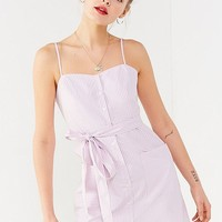 UO Striped Tie-Belt Button-Down Dress | Urban Outfitters