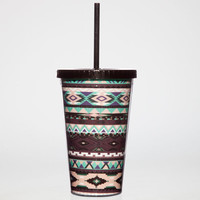 Tribal Print Tumbler Purple Combo One Size For Women 23707676601
