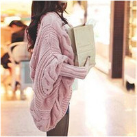 'Secondary BFF' Batwing Poncho Sweater Cardigan