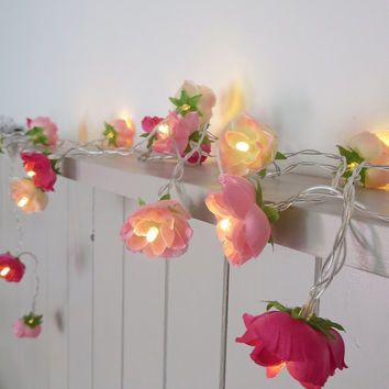 NEW Pretty in Pink Fairy Lights, Rambling from PamelaAngus on