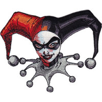 Harley Quinn Iron-On Patch Headshot