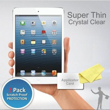 3xHD Clear Screen Protector for iPad 5 iPad air iPad air 2 Anti Scratch Protective Tablet Guard Film with Retail Package