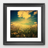 Counting Flowers Like Stars - Color Version Framed Art Print by Olivia Joy StClaire