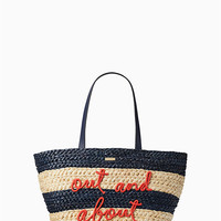shore thing out and about straw tote   Kate Spade New York
