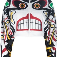 Adidas Originals By Jeremy Scott Totem Pole Hooded Sweater - Wok-Store - mobile.farfetch.com