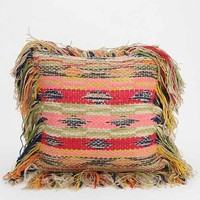 Rag-Fringe Pillow - Pink One