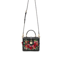 Dolce & Gabbana Studded Soft Bag in Black & Red | FWRD