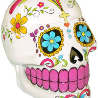 Day of the Dead - Smiling Skull - White - Storage