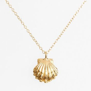 Women's ki-ele 'Golden Sunrise' Shell Pendant Necklace