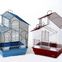 House Style Bird Cage Assorted Colors 2 PK