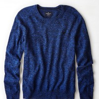 AEO Crew Sweater, Cobalt Blue | American Eagle Outfitters
