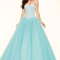 Mori Lee Beaded Ball Gown 98093