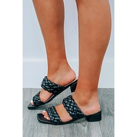 Right Direction Sandals: Black
