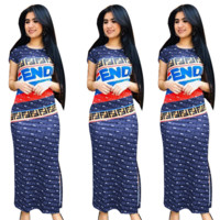 Fendi Womens Long Maxi Dress