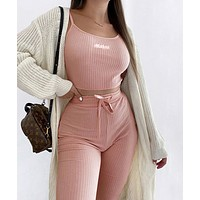 Sporty sling embroidery English suit women