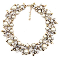 women Z design fashion chain necklace bib collar chunky choker pearl crystal Necklaces luxury statement jewelry women
