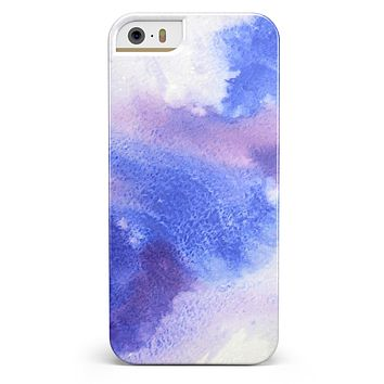 Blue and Pink Watercolor Spill iPhone 5/5s or SE INK-Fuzed Case
