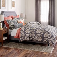 SONOMA life + style Pembrook 3-pc. Comforter Set - Full / Queen (Grey)