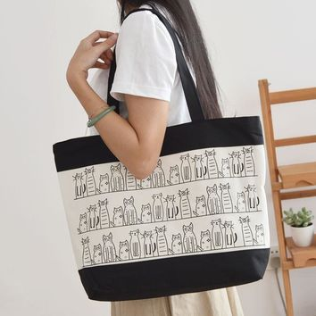 Cute Cats Pattern Tote