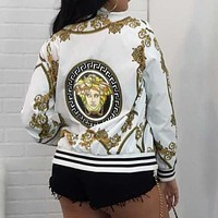 Versace digital positioning printing long-sleeved jacket thin coat women