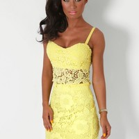 Sunfire Yellow Lace Bralet | Pink Boutique