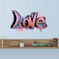 Full Color Wall Decal Mural Sticker Decor Art Poster Gift Kids Nursery Like painting Graffiti Words Quote Sign Love (col699)