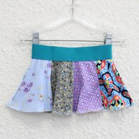 Infant Onsie Skirt for 12 Month Old, Onsie Skirt for Baby made from Upcycled Tshirts, Baby Skirt made from Recycled Tshirts, Baby Skirt (19)