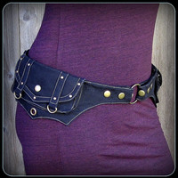 hooping utility belt ~  brown, black or burgundy fabric pocket belt ~ good choice for hula hooping, esp at String Cheese Incident